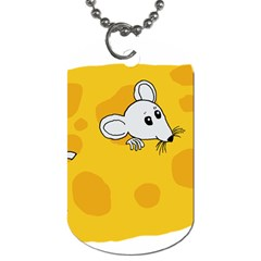 Rat Mouse Cheese Animal Mammal Dog Tag (two Sides) by Nexatart