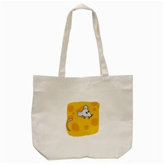 Rat Mouse Cheese Animal Mammal Tote Bag (cream)
