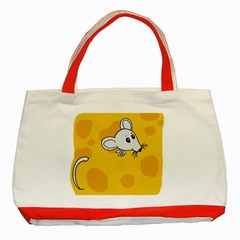 Rat Mouse Cheese Animal Mammal Classic Tote Bag (red)