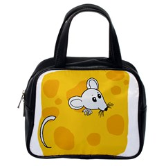 Rat Mouse Cheese Animal Mammal Classic Handbags (one Side)