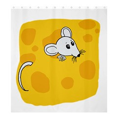 Rat Mouse Cheese Animal Mammal Shower Curtain 66  X 72  (large)  by Nexatart