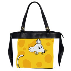 Rat Mouse Cheese Animal Mammal Office Handbags (2 Sides)  by Nexatart