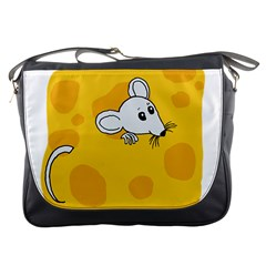 Rat Mouse Cheese Animal Mammal Messenger Bags