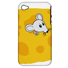 Rat Mouse Cheese Animal Mammal Apple Iphone 4/4s Hardshell Case (pc+silicone)