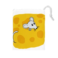 Rat Mouse Cheese Animal Mammal Drawstring Pouches (large)