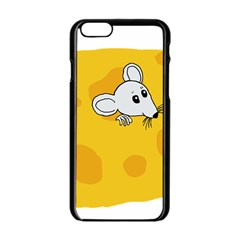Rat Mouse Cheese Animal Mammal Apple Iphone 6/6s Black Enamel Case by Nexatart