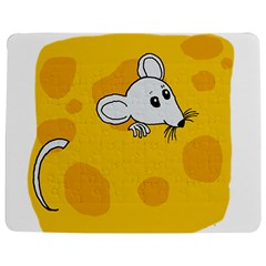Rat Mouse Cheese Animal Mammal Jigsaw Puzzle Photo Stand (rectangular)