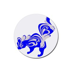 Skunk Animal Still From Rubber Round Coaster (4 Pack)