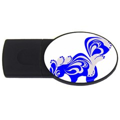 Skunk Animal Still From Usb Flash Drive Oval (4 Gb) by Nexatart