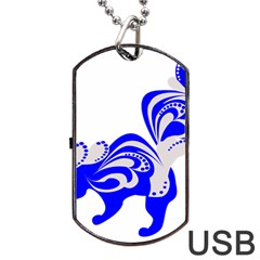 Skunk Animal Still From Dog Tag Usb Flash (two Sides)