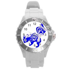 Skunk Animal Still From Round Plastic Sport Watch (l)