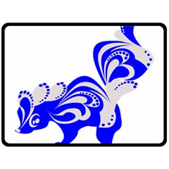 Skunk Animal Still From Double Sided Fleece Blanket (large)  by Nexatart