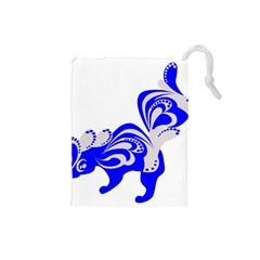 Skunk Animal Still From Drawstring Pouches (small)  by Nexatart