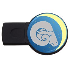 Ram Zodiac Sign Zodiac Moon Star Usb Flash Drive Round (2 Gb)
