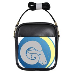 Ram Zodiac Sign Zodiac Moon Star Girls Sling Bags by Nexatart