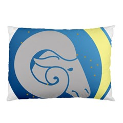 Ram Zodiac Sign Zodiac Moon Star Pillow Case (two Sides)
