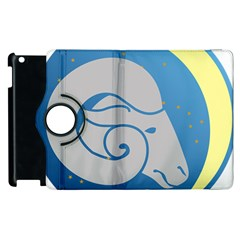 Ram Zodiac Sign Zodiac Moon Star Apple Ipad 2 Flip 360 Case by Nexatart