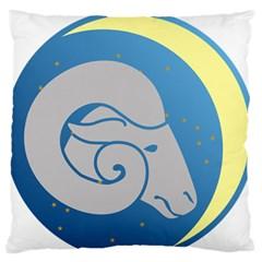 Ram Zodiac Sign Zodiac Moon Star Standard Flano Cushion Case (one Side)