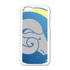 Ram Zodiac Sign Zodiac Moon Star Apple Iphone 6/6s White Enamel Case