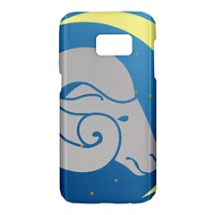 Ram Zodiac Sign Zodiac Moon Star Samsung Galaxy S7 Hardshell Case  by Nexatart