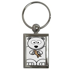 Bear Polar Bear Arctic Fish Mammal Key Chains (rectangle)