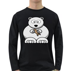 Bear Polar Bear Arctic Fish Mammal Long Sleeve Dark T Shirts