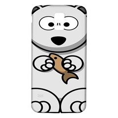 Bear Polar Bear Arctic Fish Mammal Samsung Galaxy S5 Back Case (white)