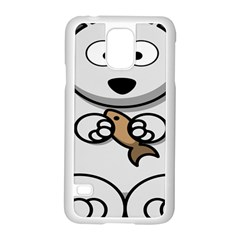 Bear Polar Bear Arctic Fish Mammal Samsung Galaxy S5 Case (white)