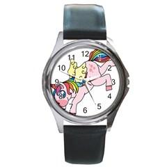 Unicorn Arociris Raimbow Magic Round Metal Watch