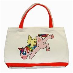 Unicorn Arociris Raimbow Magic Classic Tote Bag (red)