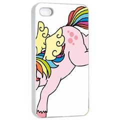 Unicorn Arociris Raimbow Magic Apple Iphone 4/4s Seamless Case (white) by Nexatart