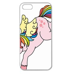 Unicorn Arociris Raimbow Magic Apple Seamless Iphone 5 Case (clear)
