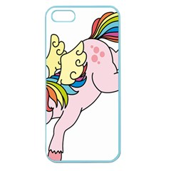 Unicorn Arociris Raimbow Magic Apple Seamless Iphone 5 Case (color)