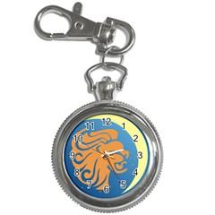 Lion Zodiac Sign Zodiac Moon Star Key Chain Watches by Nexatart