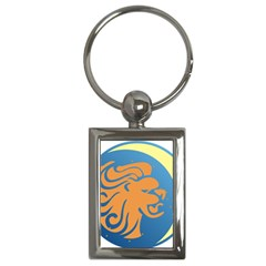 Lion Zodiac Sign Zodiac Moon Star Key Chains (rectangle)  by Nexatart