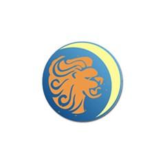 Lion Zodiac Sign Zodiac Moon Star Golf Ball Marker (10 Pack)