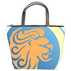 Lion Zodiac Sign Zodiac Moon Star Bucket Bags