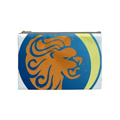 Lion Zodiac Sign Zodiac Moon Star Cosmetic Bag (medium)  by Nexatart