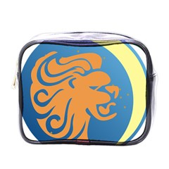 Lion Zodiac Sign Zodiac Moon Star Mini Toiletries Bags