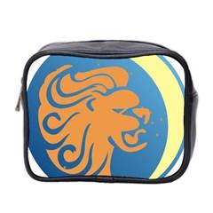 Lion Zodiac Sign Zodiac Moon Star Mini Toiletries Bag 2 Side