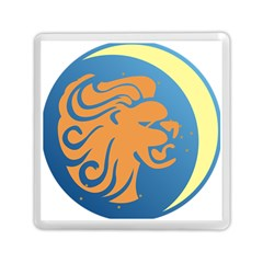Lion Zodiac Sign Zodiac Moon Star Memory Card Reader (square)  by Nexatart