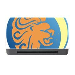 Lion Zodiac Sign Zodiac Moon Star Memory Card Reader With Cf by Nexatart