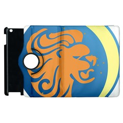 Lion Zodiac Sign Zodiac Moon Star Apple Ipad 3/4 Flip 360 Case by Nexatart