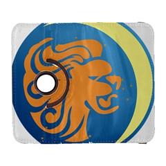 Lion Zodiac Sign Zodiac Moon Star Galaxy S3 (flip/folio)