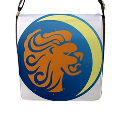 Lion Zodiac Sign Zodiac Moon Star Flap Messenger Bag (l)