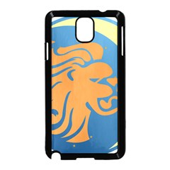 Lion Zodiac Sign Zodiac Moon Star Samsung Galaxy Note 3 Neo Hardshell Case (black)