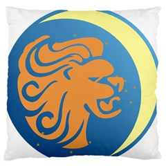 Lion Zodiac Sign Zodiac Moon Star Large Flano Cushion Case (two Sides) by Nexatart
