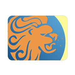 Lion Zodiac Sign Zodiac Moon Star Double Sided Flano Blanket (mini)