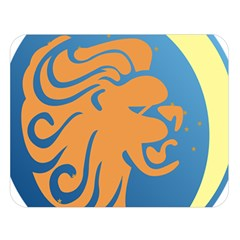 Lion Zodiac Sign Zodiac Moon Star Double Sided Flano Blanket (large)