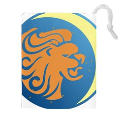 Lion Zodiac Sign Zodiac Moon Star Drawstring Pouches (xxl)